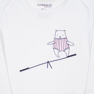 Sooki Baby - Baby Girl Bear On A Seesaw Tee | Tops & T-Shirts | Bon Bon Tresor