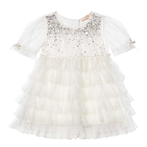 Tutu Du Monde - Bebe Bijou Tulle Dress Milk | Party Dresses | Bon Bon Tresor