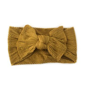 Sister Bows - Knotted Baby Headband Mustard | Hair Accessories | Bon Bon Tresor