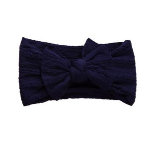 Sister Bows - Knotted Baby Headband Navy | Hair Accessories | Bon Bon Tresor