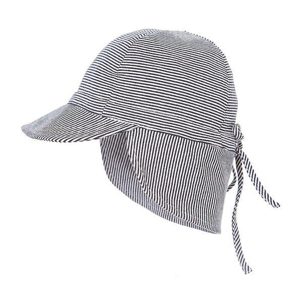 Toshi - Baby Periwinkle Flap Cap Hat