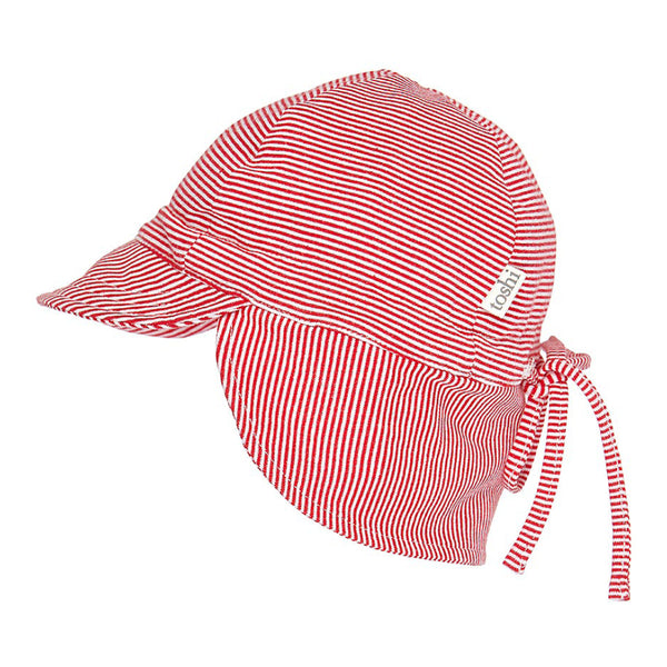 Toshi - Baby Red Flap Cap Hat