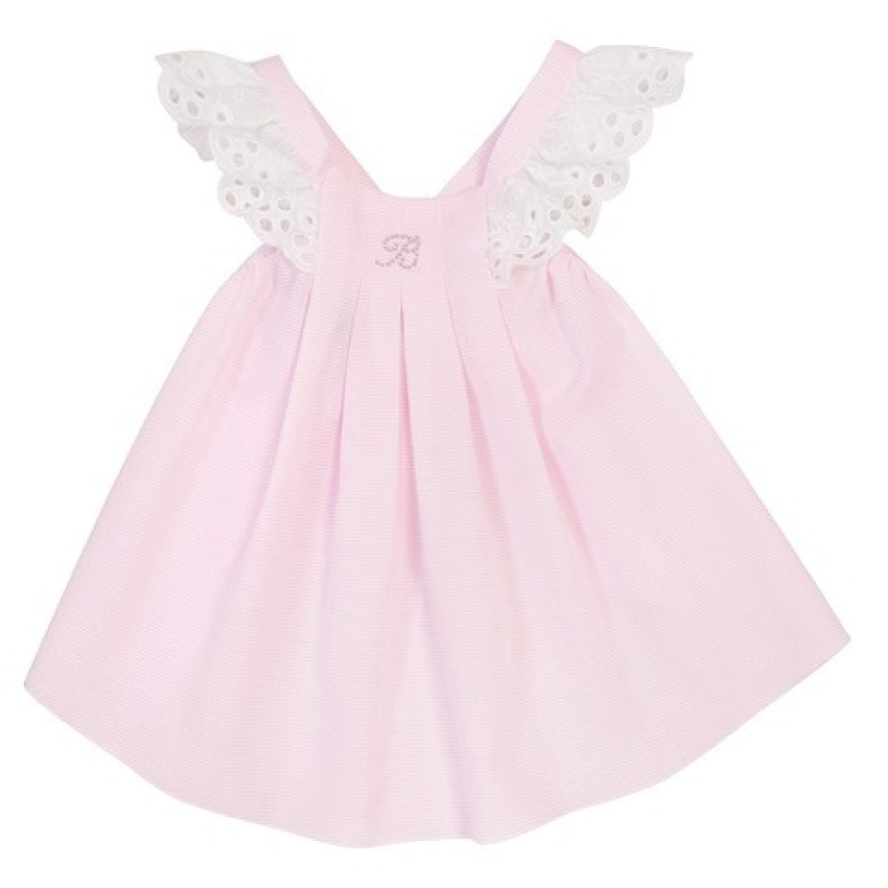 Balloon Chic - Baby Girl Pink Ruffles Dress | Party Dresses | Bon Bon Tresor