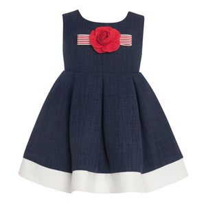 Balloon Chic - Girls Navy Party Dress | Party Dresses | Bon Bon Tresor