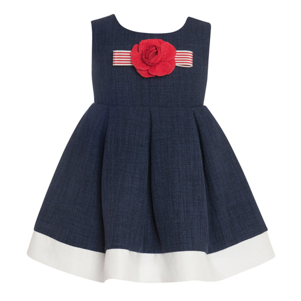 Balloon Chic - Girls Navy Party Dress
