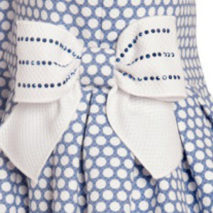 Balloon Chic - Girls Blue Spots Party Dress | Party Dresses | Bon Bon Tresor