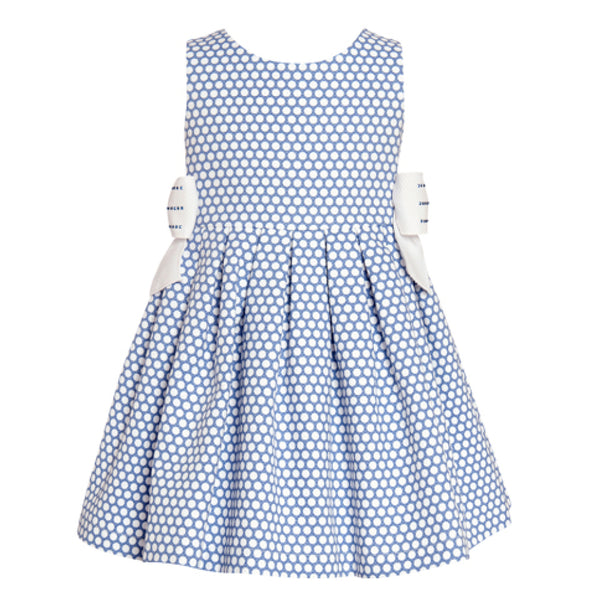 Balloon Chic - Girls Blue Spots Party Dress