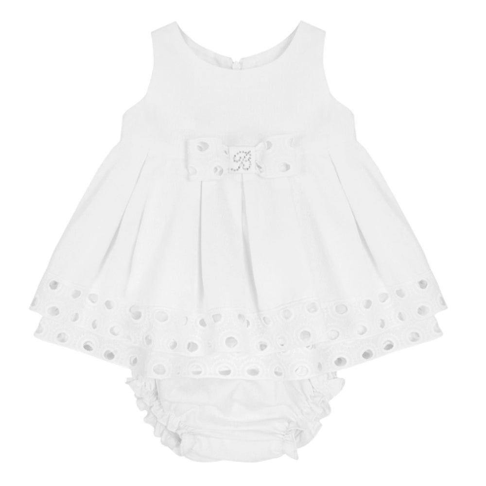 Balloon Chic - Baby Girl White Party Dress | Party Dresses | Bon Bon Tresor