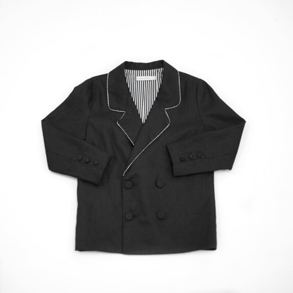 Carbon Soldier - Boys Black Blazer | Coats & Jackets | Bon Bon Tresor