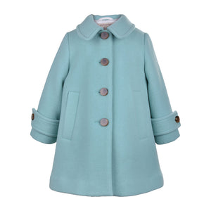 Hucklebones London - Soft Green Wool Swing Coat | Coats & Jackets | Bon Bon Tresor