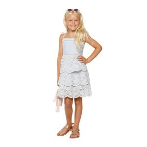 Marlo Kids - Girls Camellia Stripe Dress | Dresses & Skirts | Bon Bon Tresor