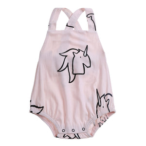 Anarkid - Baby Girl Unicorn AOP Playsuit | Rompers | Bon Bon Tresor