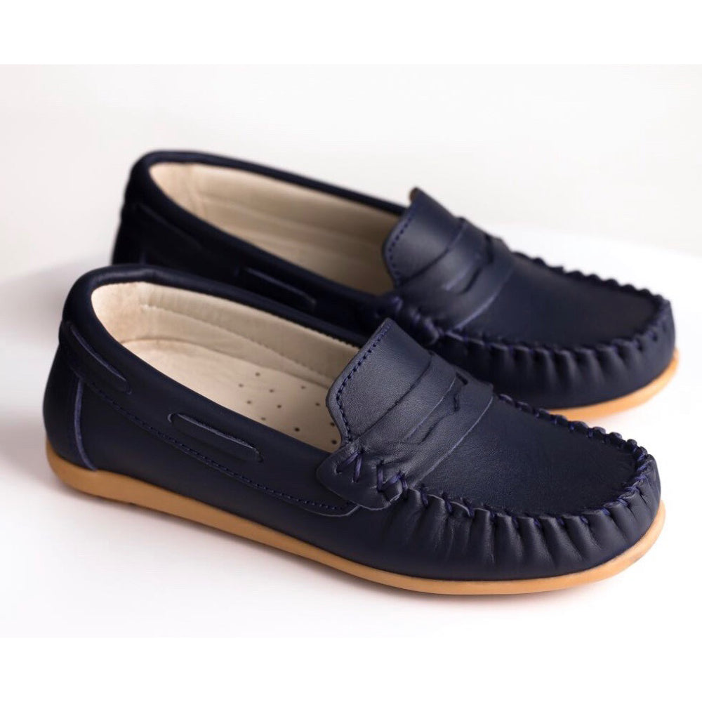 Woopy - Orthopedic Navy Polo Loafers | Moccasins & Loafers | Bon Bon Tresor