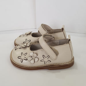 Morello Shoes - Toddler Cream Leather Mary Jane Shoes | Dress Shoes | Bon Bon Tresor