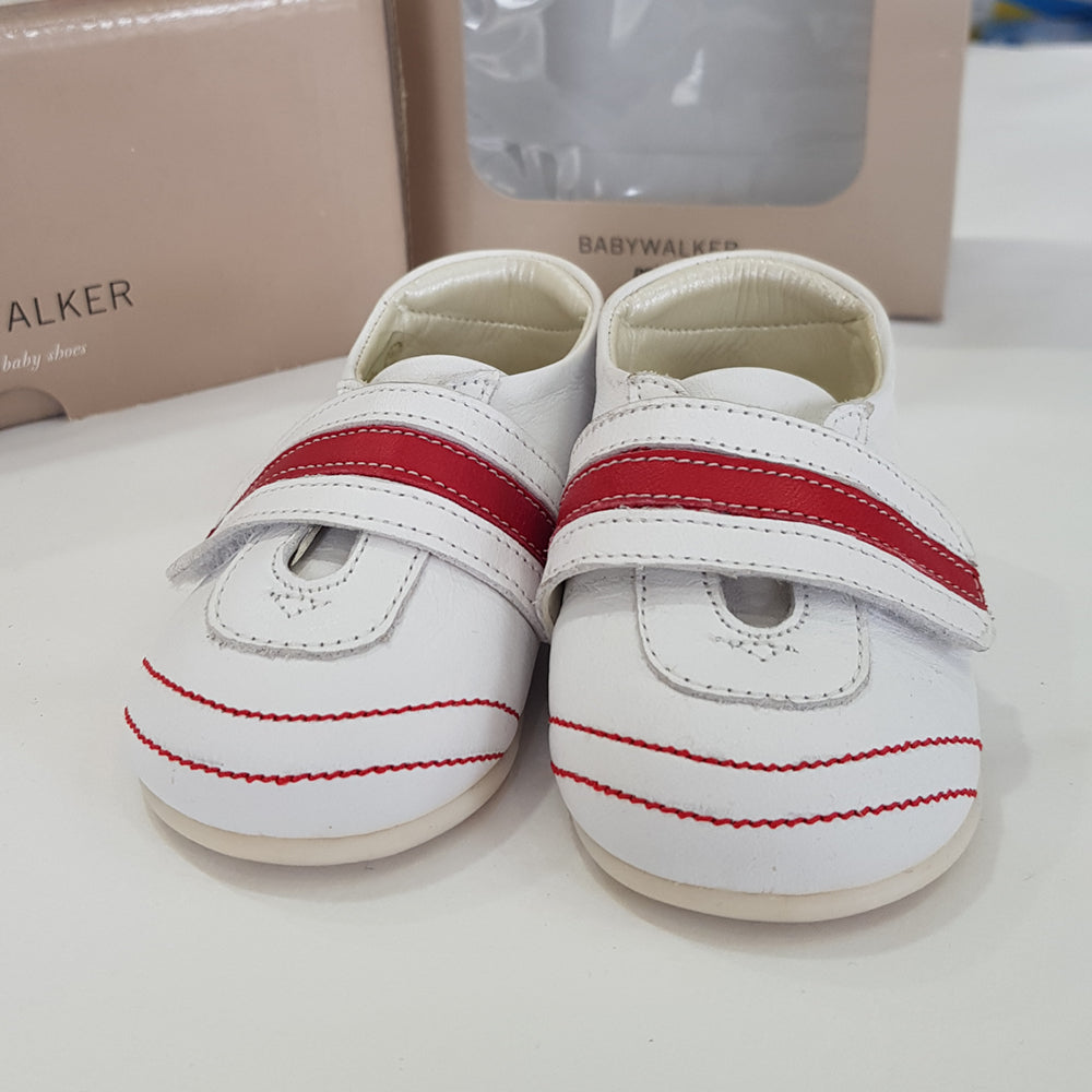 BabyWalker - Red/White Leather Baby Shoes | Dress Shoes | Bon Bon Tresor