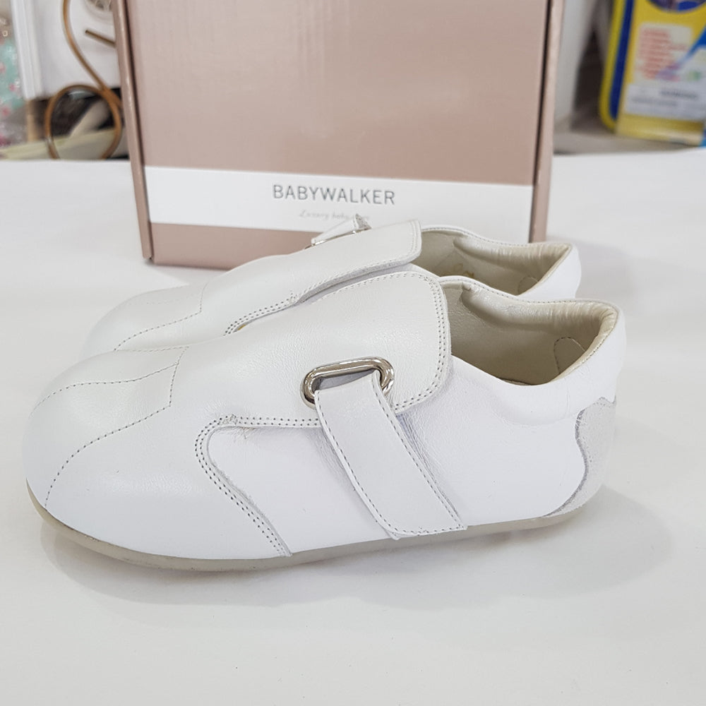 BabyWalker - White Leather Tapas Sole Baby Shoes | Dress Shoes | Bon Bon Tresor