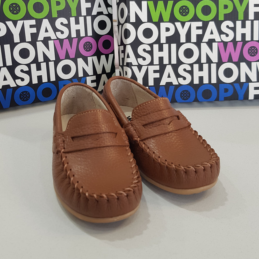 Woopy - Orthopedic Tan Polo Loafers | Moccasins & Loafers | Bon Bon Tresor