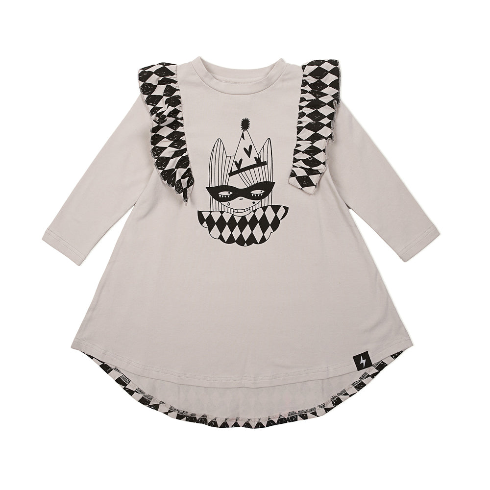 Kapow Kids - Girls Harlequin Twirling Dress | Dresses & Skirts | Bon Bon Tresor