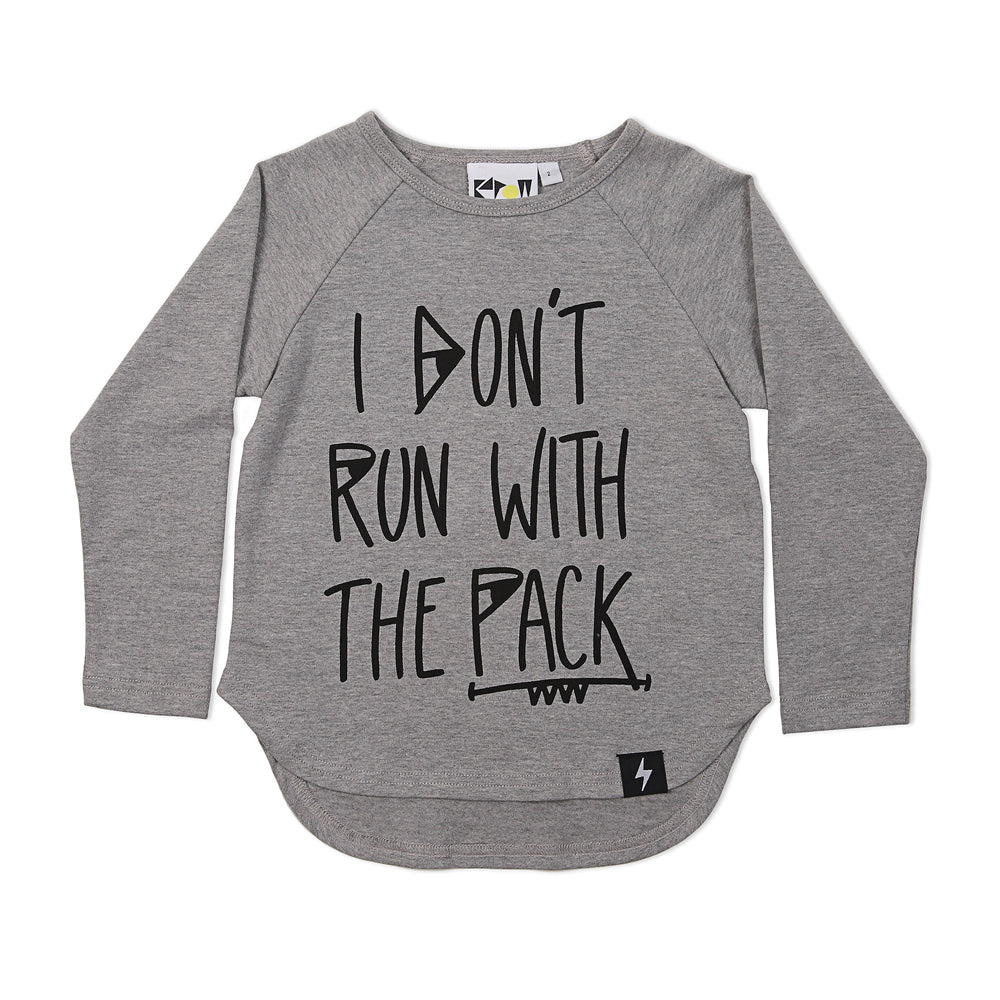 Kapow Kids - Baby Boy Long Sleeve Wolf Pack Placement T-Shirt | Tops & T-Shirts | Bon Bon Tresor