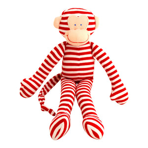 Alimrose Designs - Monkey Red Stripe Toy Rattle | Rattles & Squeakers | Bon Bon Tresor