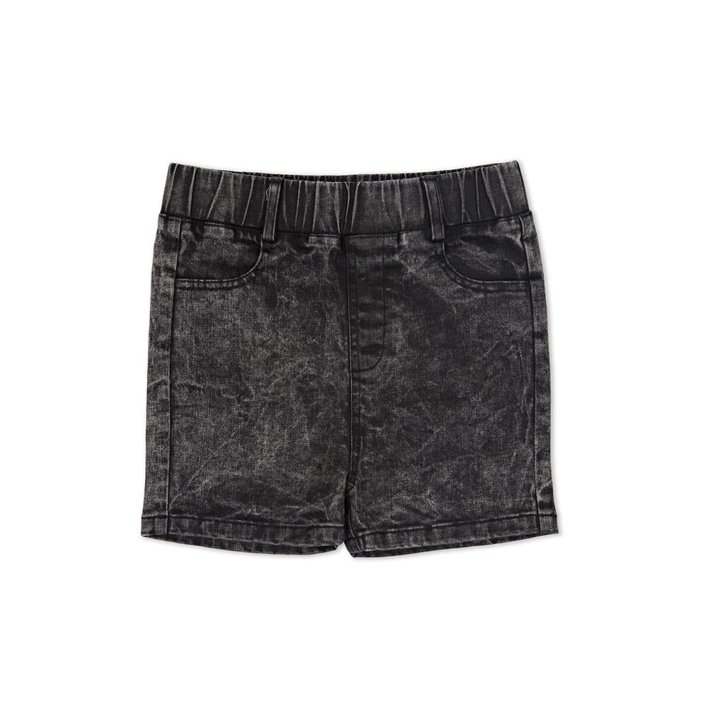 Kapow Kids - Acid Black Denim Boys Shorts | Pants & Shorts | Bon Bon Tresor