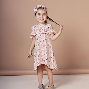 Kapow Kids - Girls Unicorn Cold Shoulder Dress | Dresses & Skirts | Bon Bon Tresor