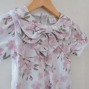 K Coulst Designs - Floral Bow Collar Blouse | Tops & T-Shirts | Bon Bon Tresor