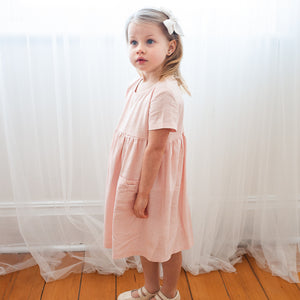 K Coulst Designs - Baby Pink Linen Dress | Dresses & Skirts | Bon Bon Tresor