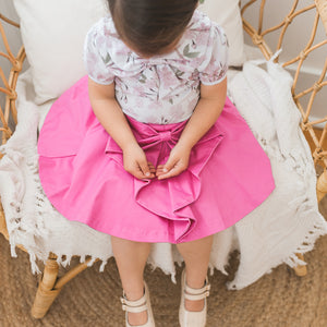 K Coulst Designs - Candy Pink Bow Skirt | Dresses & Skirts | Bon Bon Tresor