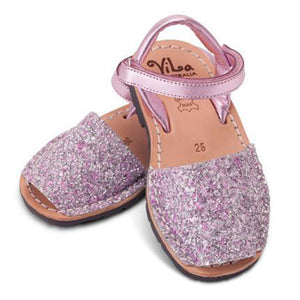 Vila Australia - Girls Glitter Pink Leather Sandal | Dress Shoes | Bon Bon Tresor