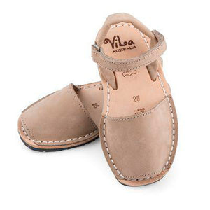 Vila Australia - Girls Beige Leather Sandal | Dress Shoes | Bon Bon Tresor