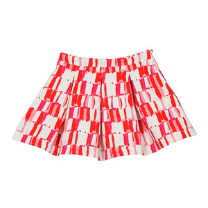 Balloon Chic - Girls Red Jacqaurd Skirt | Dresses & Skirts | Bon Bon Tresor
