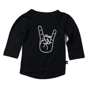 Anarkid - Black Long Sleeve Horns Tee | Tops & T-Shirts | Bon Bon Tresor