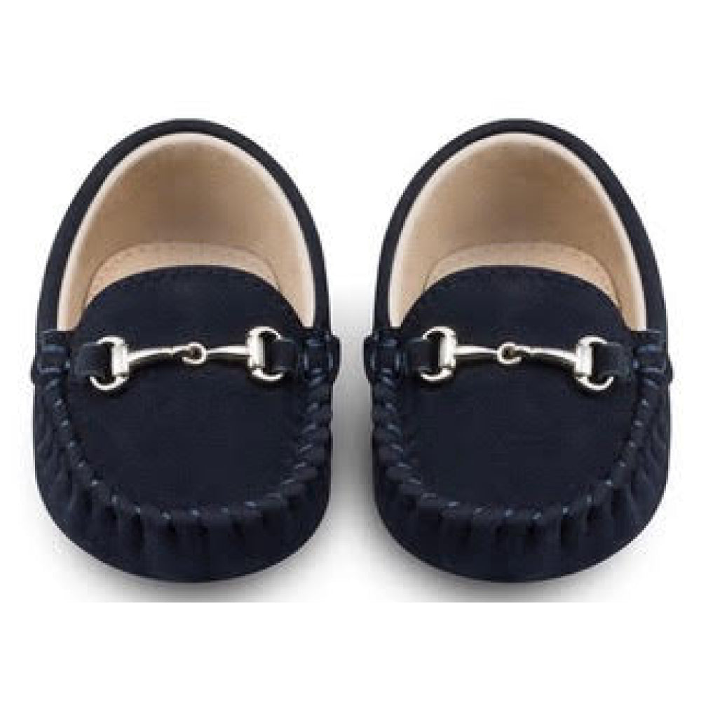 Oscar's For Kids - Lucca Navy Baby Loafers | Moccasins & Loafers | Bon Bon Tresor
