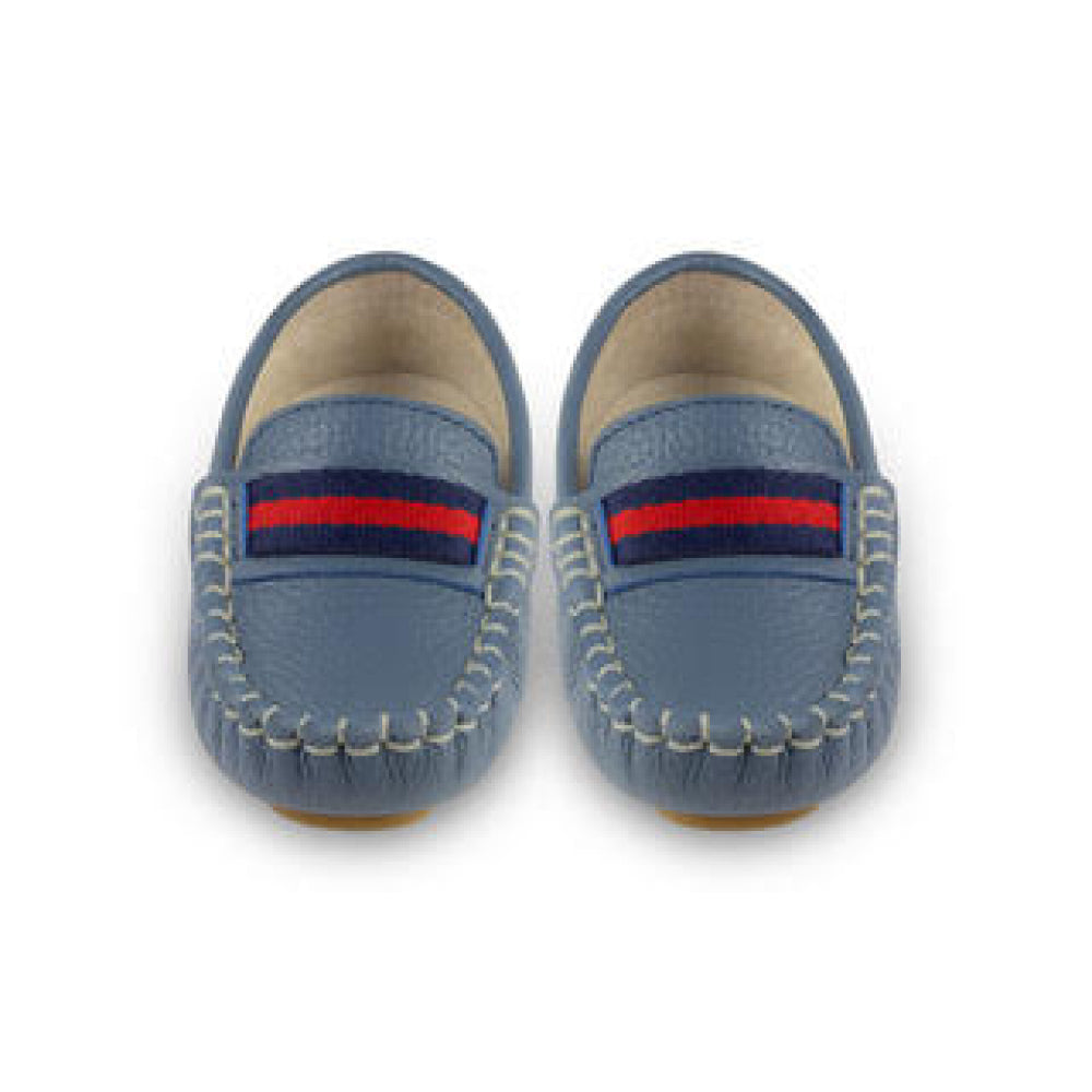 Oscar's For Kids - Sorento Mid Blue Loafers | Moccasins & Loafers | Bon Bon Tresor