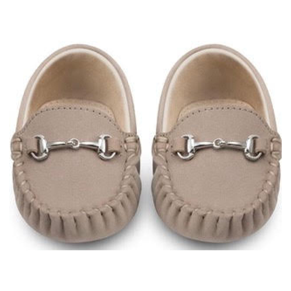 Oscar's For Kids - Lucca Brown Baby Loafers | Moccasins & Loafers | Bon Bon Tresor