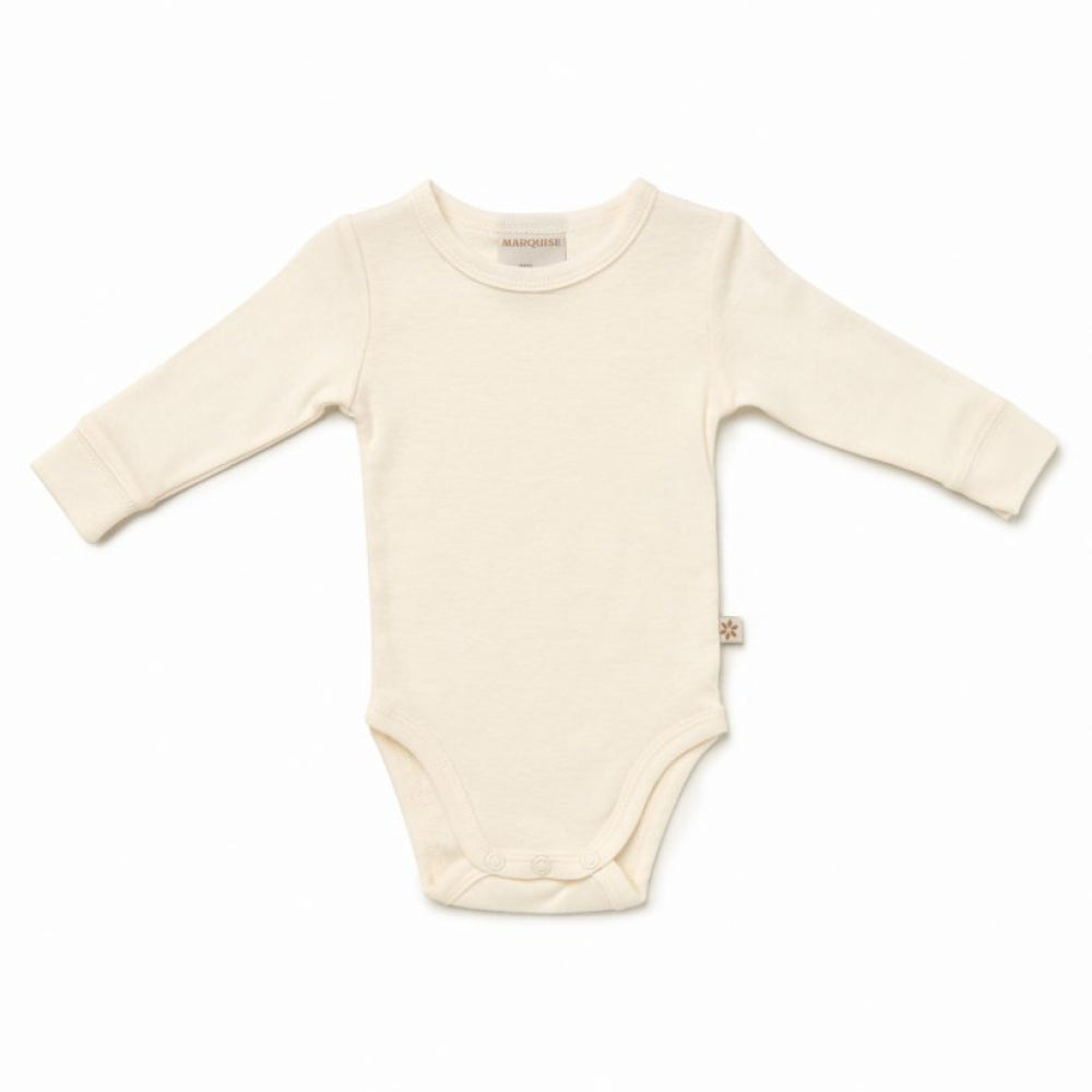 Marquise - Baby Cotton Wool Long Sleeve Bodysuit | Singlets & Bloomers | Bon Bon Tresor