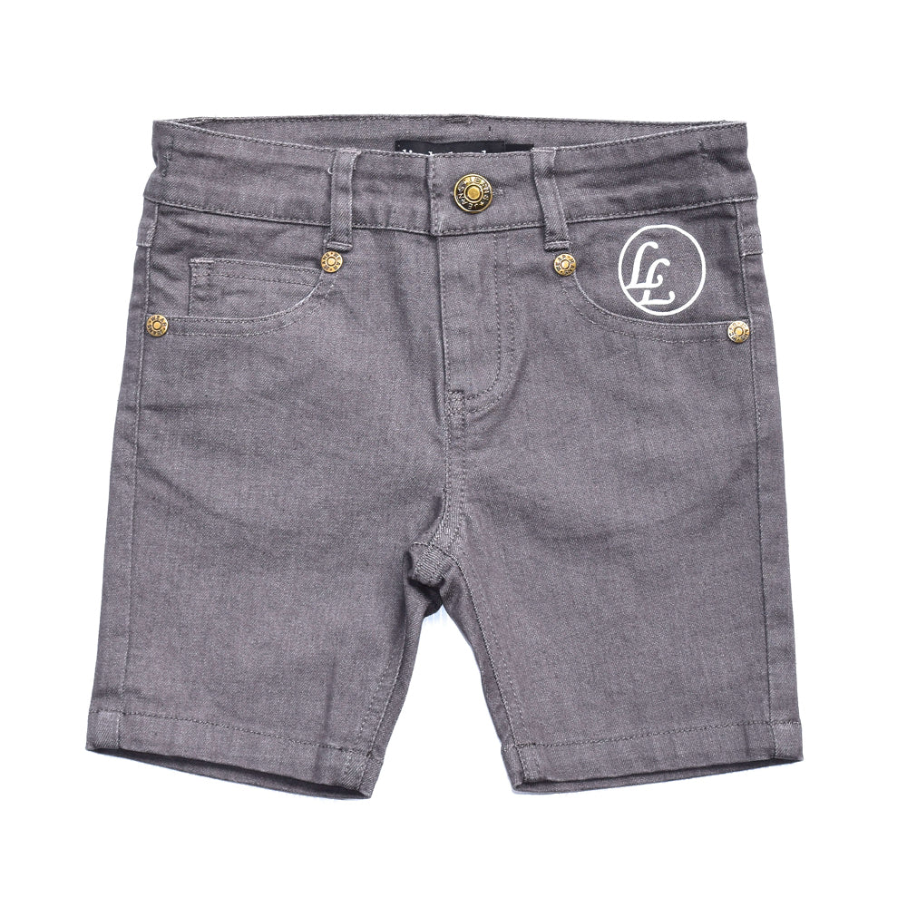 Little Lords - Boys Grey Hey Shorty | Pants & Shorts | Bon Bon Tresor