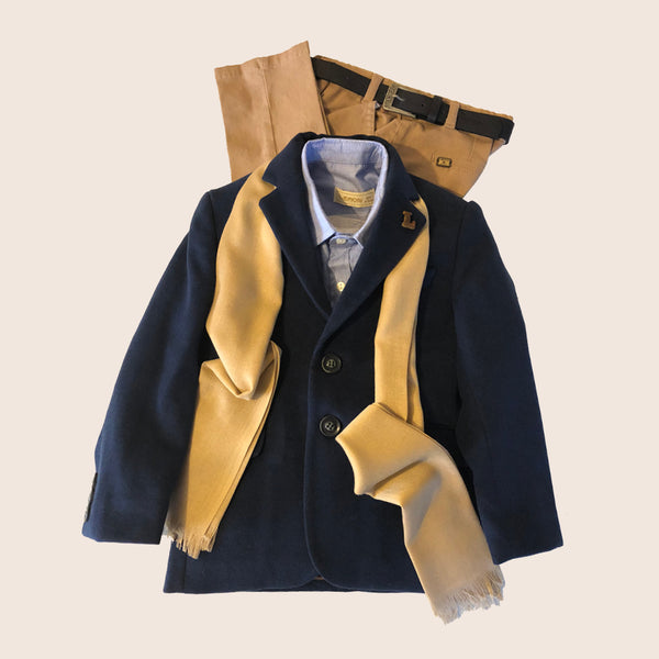 Lemon - Boys 5 Piece Navy Suit | Suits | Bon Bon Tresor