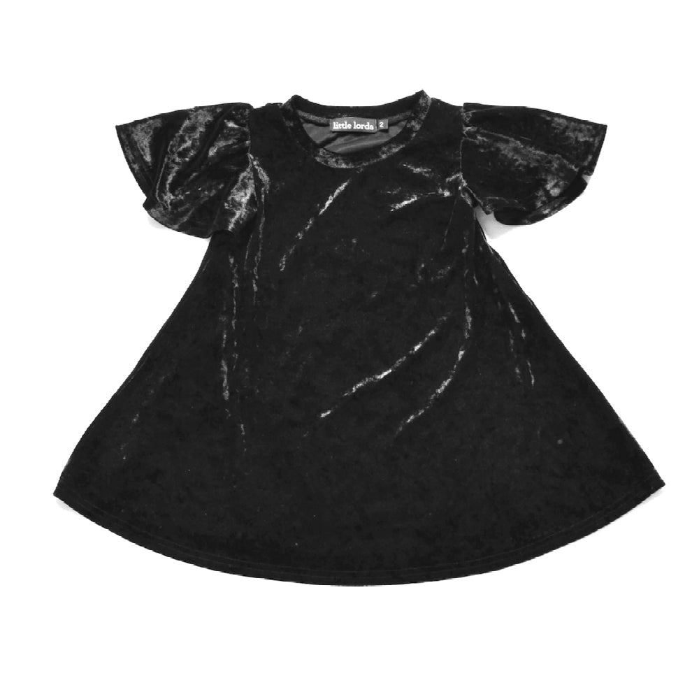 Little Lords - Black Velvet Party Dress | Dresses & Skirts | Bon Bon Tresor
