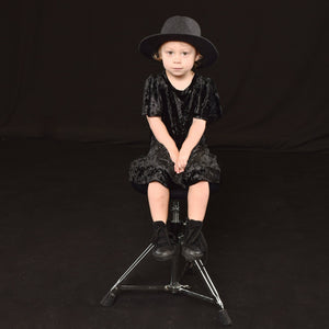Little Lords - Girls Black Velvet Party Dress | Dresses & Skirts | Bon Bon Tresor