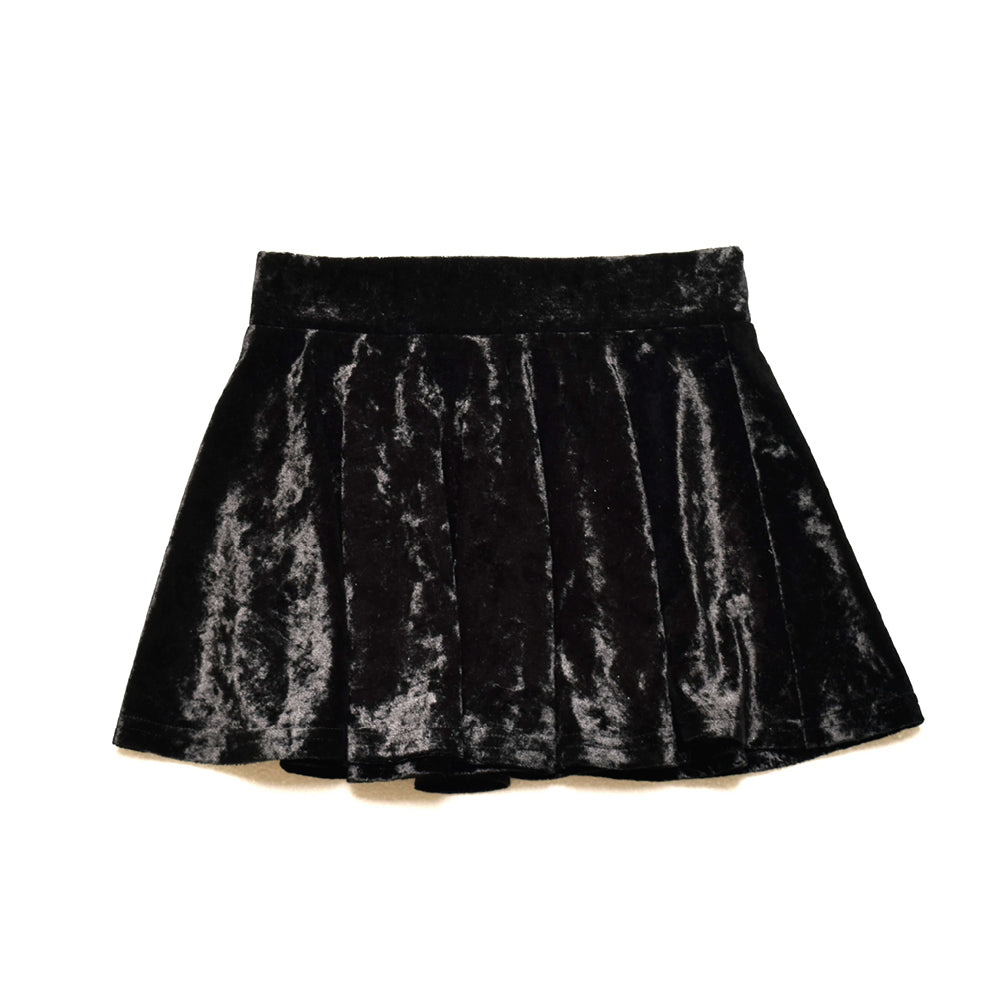 Little Lords - Black Crushed Velvet Skirt | Dresses & Skirts | Bon Bon Tresor