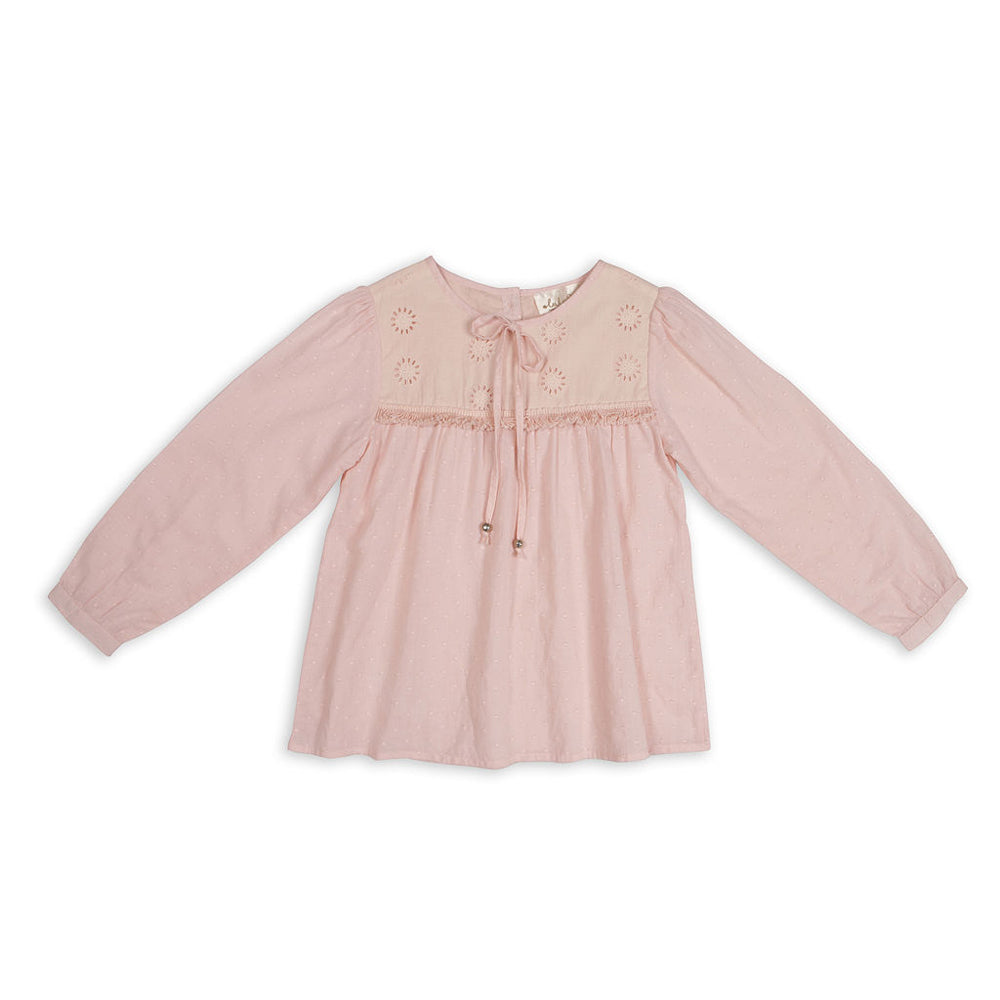 Lulu Stars - Girls Heather Rose Edith Blouse | Tops & T-Shirts | Bon Bon Tresor