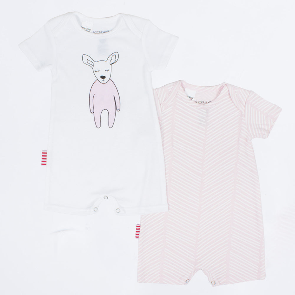 SOOKI Baby - Baby Girl 2pc Oh Deer Playsuit | Rompers & Playsuits | Bon Bon Tresor