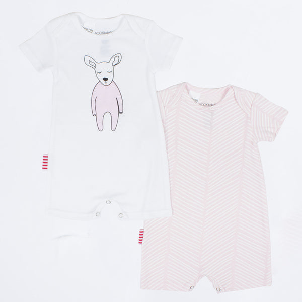 SOOKI Baby - Baby Girl 2pc Oh Deer Playsuit | Rompers | Bon Bon Tresor