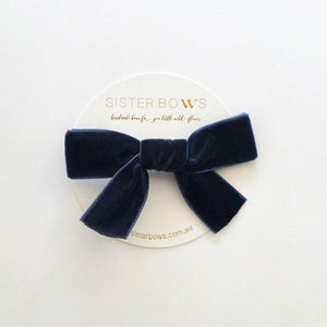 Sister Bows - Girls Assorted Velvet Bows | Hair Accessories | Bon Bon Tresor