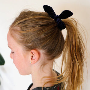 Sister Bows - Girls Assorted Velvet Bunny Scrunchies | Hair Accessories | Bon Bon Tresor