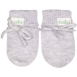 Toshi - Baby Organic Mittens Marely Dove | Booties & Mittens | Bon Bon Tresor