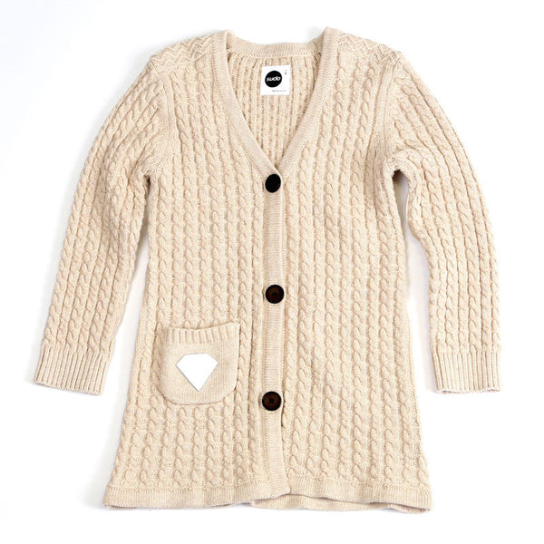 Sudo Kids - Girls Cream Simple Pleasures Cardigan - Bon Bon Tresor - 1