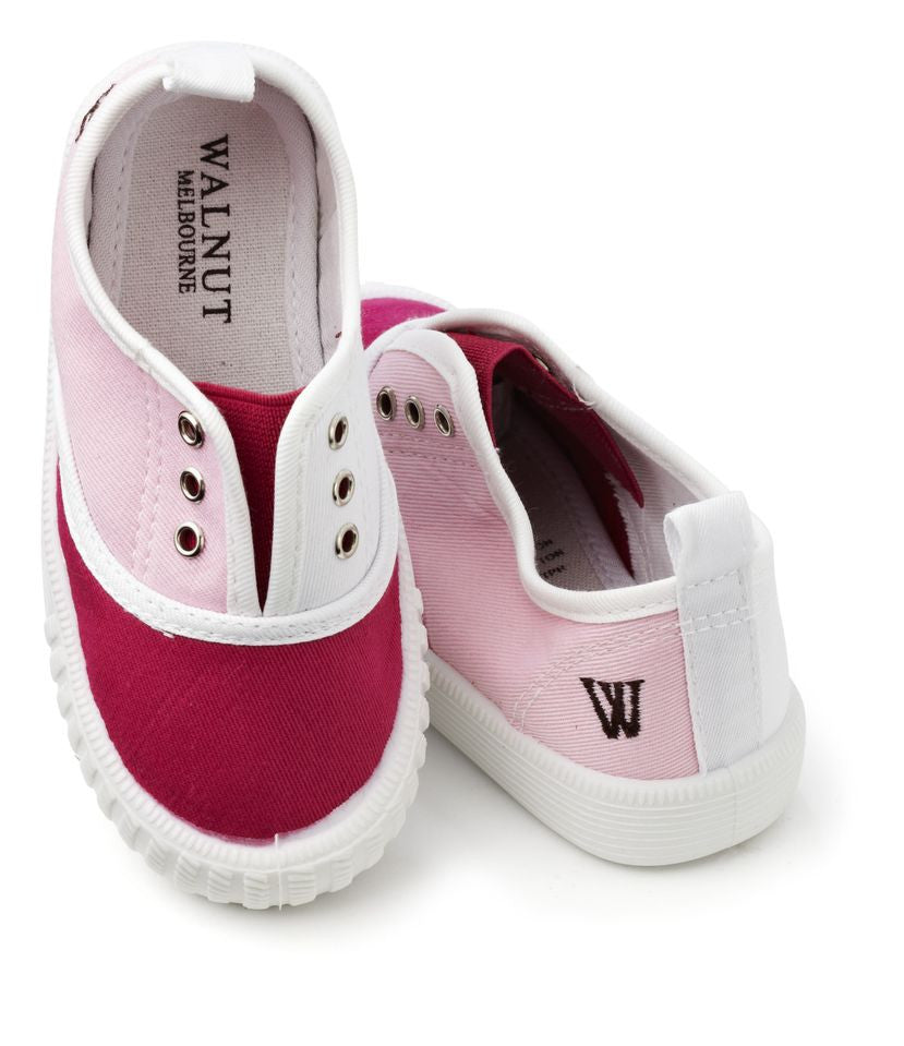 Walnut Shoes - Girls Pink Combo Tennis Shoes | Canvas | Bon Bon Tresor